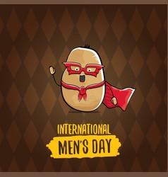 international mens day cartoon greeting vector image