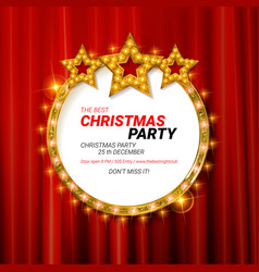 Invitation merry christmas party 2019 vector