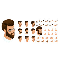 Isometrics create your emotions for a man vector
