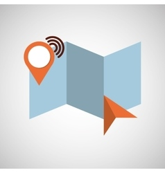 location gps travel vector image