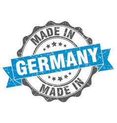 made in germany round seal vector image