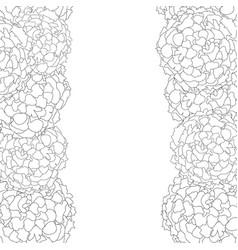 marigold border outline vector image
