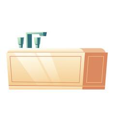 modern bathtub isolated on white background icon vector image