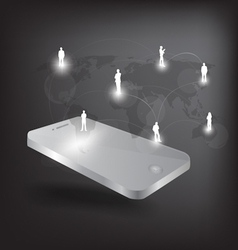 Modern phone social network vector image