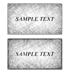 Monochrome line art business card templates vector