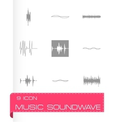 Music soundwave icons set vector