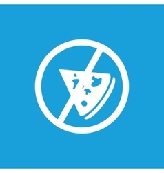 No pizza icon white vector