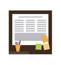 office cork board vector image