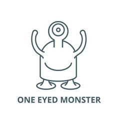 one eyed monster line icon linear concept vector image