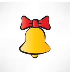 One yellow bell vector image