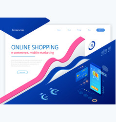 online shopping sale consumerism and online vector image