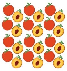 Peach fruits background design vector