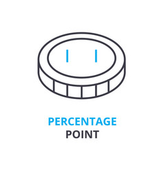 percentage point concept outline icon linear vector image