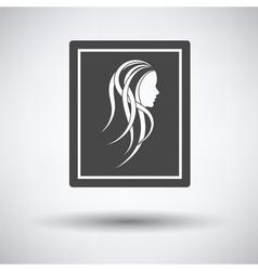 Portrait art icon vector image vector image
