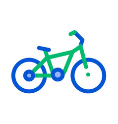 Public transport bicycle thin line icon vector