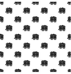 railway wagon pattern seamless vector image