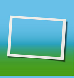 retro realistic photo frame with shadow effect vector image
