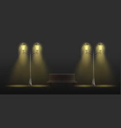 retro street lights lantern realistic set vector image