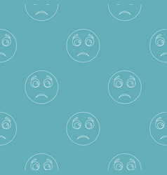sad smile pattern seamless vector image