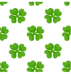 Seamless background irish clover vector