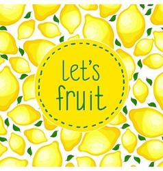 Seamless pattern of lemons vector image