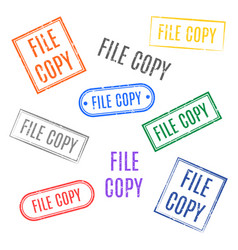 set stamps file copy vector image