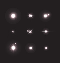 Shining star collection set of various forms vector