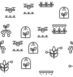 Smart farm seamless pattern vector