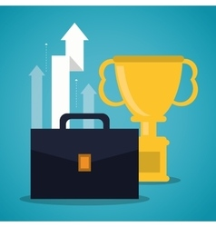 Suitcase trophy bag business icon graphic vector