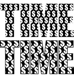 timeismoney2 vector image