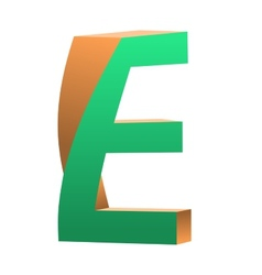 Twisted Letter E Logo Icon Design Template Element vector