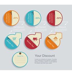 Vintage Labels template set Sale discount theme vector image