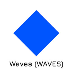 waves waves crypto coin ic vector image