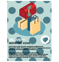 delivery color isometric poster vector image