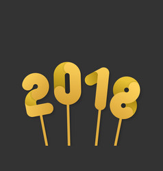 golden 2018 numbers for new year design vector image