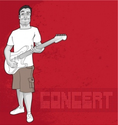 guitarist and concert graphic vector image vector image