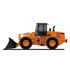 heavy equipment loader vector image