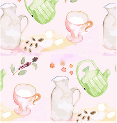 patterned background watercolor painting vector image