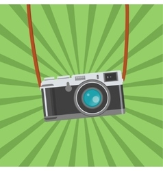 Retro Photo camera icon Flat design vector image