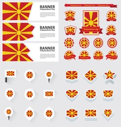 SET macedonia vector image vector image
