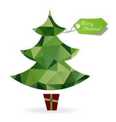 Abstract Christmas tree symbol made of triangles vector image vector image