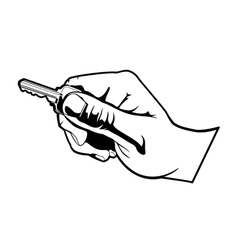 hand with key vector image vector image