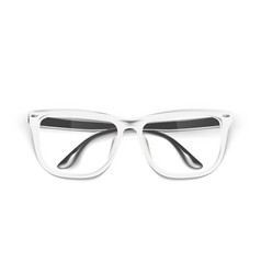 realistic eyeglasses spectacles mockup vector image