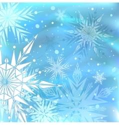 Beautiful blue winter background vector