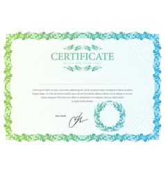 Certificate pattern that is used in currency and vector image vector image