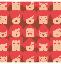 funny faces pattern vector image vector image