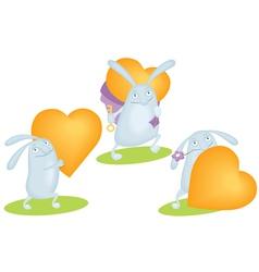 funny rabbit vector image vector image