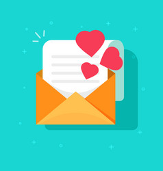 love confession mail or email icon flat vector image vector image