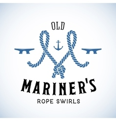 Old Mariner Abstract Retro Logo Template or vector image vector image