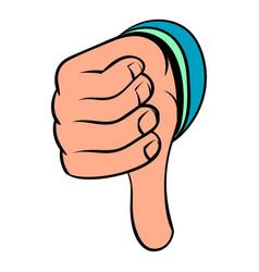 thumb down gesture icon cartoon vector image vector image